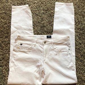 Adriano Goldschmied White skinny jeans size 30R